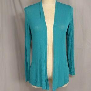 Dina Be Lightweight Cardigan Turquoise Aqua Knit S
